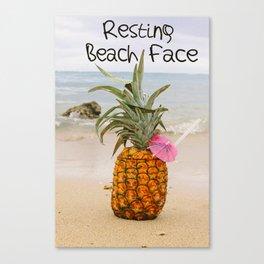 Resting Beach Face Canvas Print