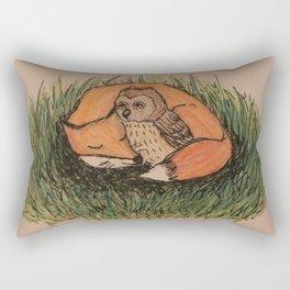 Fox & Owl Rectangular Pillow