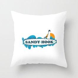 Sandy Hook - New Jersey. Throw Pillow