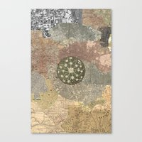 maps Canvas Prints featuring maps by INEPTUNE