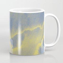 Watercolor texture - grey and yellow Coffee Mug