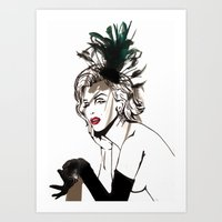 monroe Art Prints featuring Monroe  by AnneSinclair11