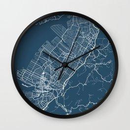 Kumamoto Blueprint Street Map, Kumamoto Colour Map Prints Wall Clock