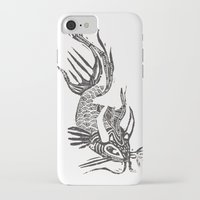 data iPhone & iPod Cases featuring Data Fish by Samantha Witherford