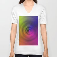 bond V-neck T-shirts featuring SPIRAL BOND by Robert Gipson