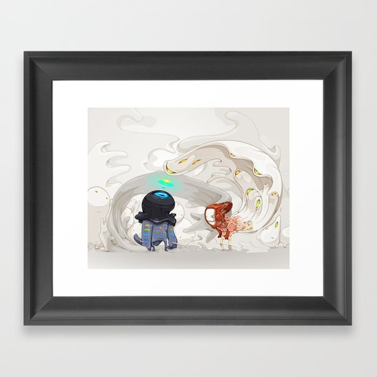 Consumption Framed Art Print