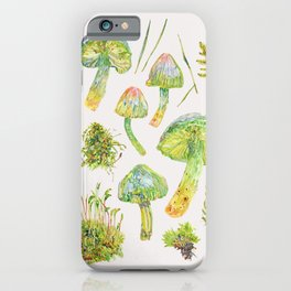 Parrot Toadstools and Moss - Neutral iPhone Case