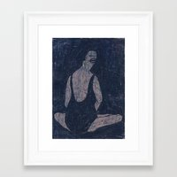 yoga Framed Art Prints featuring yoga by Maybe Mary