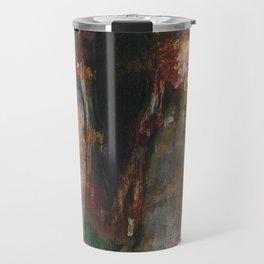 Dark Presence, Abstract Art Painting, Itaya Travel Mug