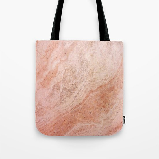 Polished Rose Gold Marble Tote Bag