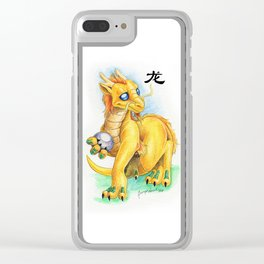Chinese Zodiac Year of the Dragon Clear iPhone Case