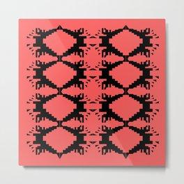 Design ornaments, on pink Metal Print