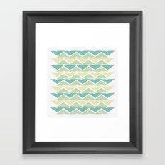 ocean triangles Framed Art Print