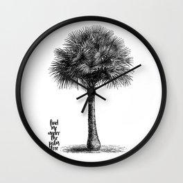 palm tree botanical no1 Wall Clock