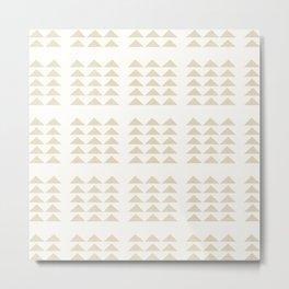 Tribal Triangles in Tan Metal Print