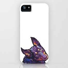 Fun Australian Kelpie Dog Portrait bright colorful Pop Art by LEA iPhone Case
