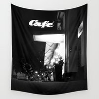cafe Wall Tapestries featuring Cafe  by Julia Aufschnaiter
