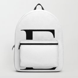 E letter Backpack