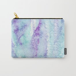 Blue Purple Watercolor Abstract Carry-All Pouch
