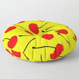 One Lonley Cherry  Floor Pillow