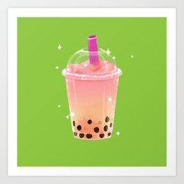 Frozen Boba Tea Art Print