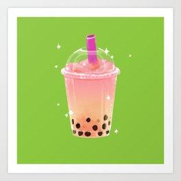 Frozen Boba Tea Art Print