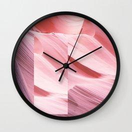 Pink Canyon Wall Clock