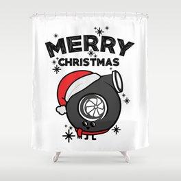 Christmas turbo Shower Curtain