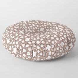 Arabesque pattern, brown on ivory Floor Pillow