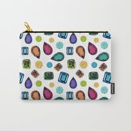 Gemstones (White) Carry-All Pouch