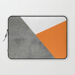 Concrete Tangerine White Laptop Sleeve