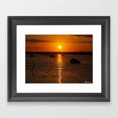 Sunset Over Sandbanks Framed Art Print