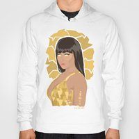 nicki Hoodies featuring Nicki, What's Good? by KnoblArt