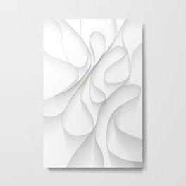 Paper Waves Metal Print