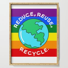 Rainbow recycling Serving Tray