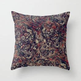 Skull Storm III Throw Pillow