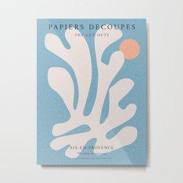 Matisse print, Exhibition wall art, Matisse inspired art, Digital download, illustration print, Matisse poster, Matisse illustration, Henri matisse, Matisse cut out shape, Abstract wall art, Matisse flower Metal Print