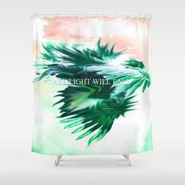Blue Dragon Dances Shower Curtain
