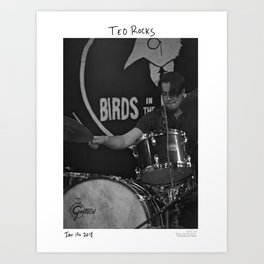 Birds in the Boneyard, Print 19: Teo Rocks! Art Print