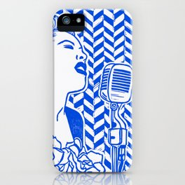 Lady Day (Billie Holiday block print) iPhone Case