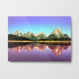 Grand Tetons 🌄 Purple Reflection Metal Print