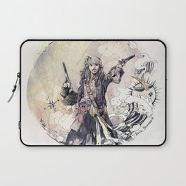 Jack Sparrow with double pistols Laptop Sleeve