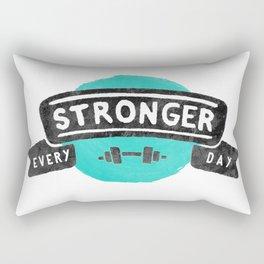 Stronger Every Day (dumbbell) Rectangular Pillow