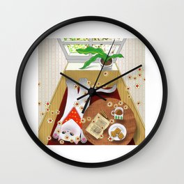 Cat by the Window series 1 Wall Clock