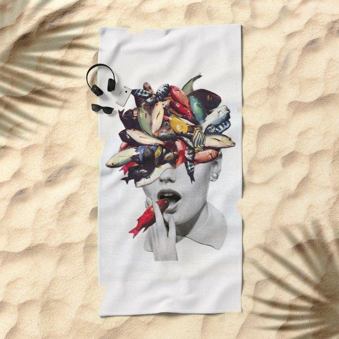 Ωmega-3 Beach Towel