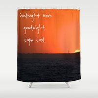 cape cod Shower Curtains featuring Goodnight Cape Cod by KarenHarveyCox