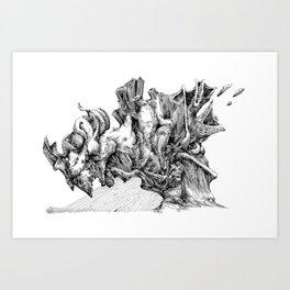 rain down Art Print