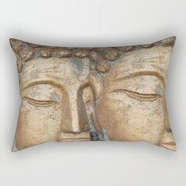 Golden Faces Of Buddha Rectangular Pillow
