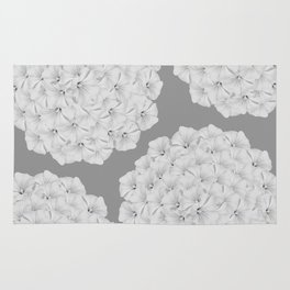 Flowerpower - Flower Balls On A Grey Background - #society6 Rug