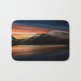Lake Sunset Snowdonia Bath Mat